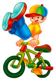 Cute kid in a bike Royalty Free Stock Image