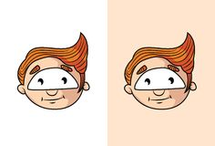 Cute kid boy smiling face. Stock Photo