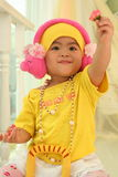 A cute kid of china Royalty Free Stock Photo