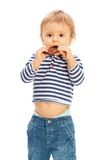 Cute kid with chocolate Royalty Free Stock Image