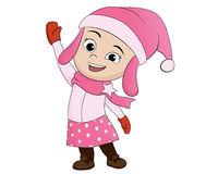 Cute kid christmas in hollidays. Stock Photography