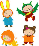 Cute Kid Costume. Illustrations clip art Cute Kid Costume Stock Image