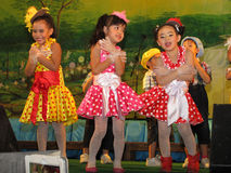 Cute kid dance show Stock Photography
