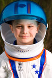Cute kid dressed as an astronaut Royalty Free Stock Image