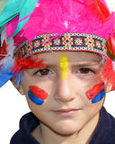 Cute kid dressed as Injun Stock Photos