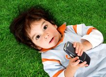Cute kid with enourmous eyes Royalty Free Stock Photo