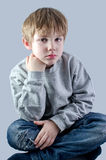 Cute kid in jeans Royalty Free Stock Image