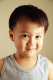Cute kid looking away. Cute child looking away to the side with a smile Stock Photos