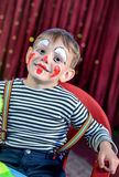 Cute Kid with Mime Makeup for Stage Play Stock Image