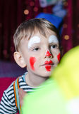 Cute Kid with Mime Makeup for Stage Play Stock Photos