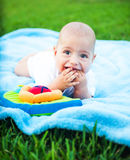 Cute kid on the nature Royalty Free Stock Images