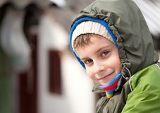 Cute kid outdoor Stock Photography