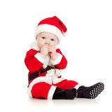 Cute kid in Santa Claus clothes Royalty Free Stock Photos