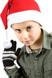 Cute kid with Santa hat Royalty Free Stock Photo