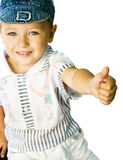 Cute kid showing ok sign Stock Image