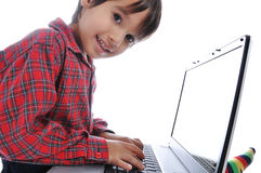 Cute kid sitting Royalty Free Stock Photography