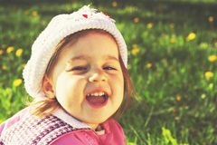 Cute kid is smiling Royalty Free Stock Images