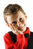 Cute kid thinking Royalty Free Stock Photo
