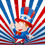 Cute Kid Uncle Sam Stock Images