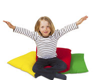 Cute kid wanting to be lifted up Royalty Free Stock Image