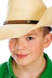 Cute kid wearing a cowboy hat Stock Photography