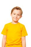 Cute kid in yellow t-shirt Stock Images