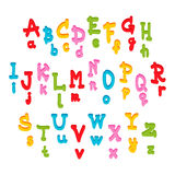 Cute kids alphabet Royalty Free Stock Photos