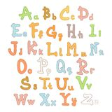 Cute kids alphabet Royalty Free Stock Photography