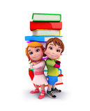 Cute kids with books Royalty Free Stock Photography
