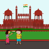 Cute Kids celebrating Indian Independence Day. Royalty Free Stock Image
