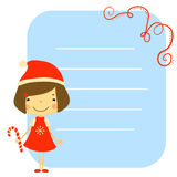 Cute kids and Christmas elements vector Stock Photos