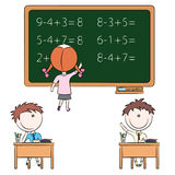 Cute kids in the classroom Royalty Free Stock Images