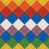 Cute kids colorful pieces simil lego royalty free illustration