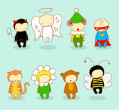 Cute kids in costumes Royalty Free Stock Image