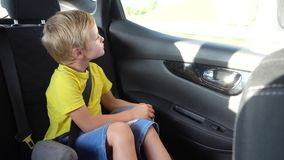 Cute kids going in car. Two cute kids going in car stock video footage