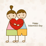 Cute kids with heart for Happy Valentine's Day. Stock Photography