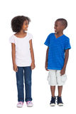 Cute kids looking at each other Royalty Free Stock Images