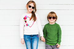 Cute kids outdoors Royalty Free Stock Photos