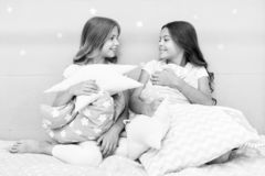 Cute kids pillows they will love to cuddle. Find decorative pillows and add fun to room. Happy childhood cozy home. Adorable cushions for your child room stock photo