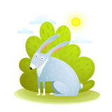 Cute kids Rabbit in forest Royalty Free Stock Photo