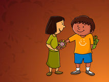 Cute kids for Raksha Bandhan celebration. Royalty Free Stock Photo