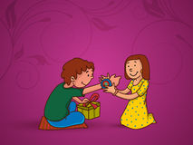 Cute kids for Raksha Bandhan celebration. Stock Photo