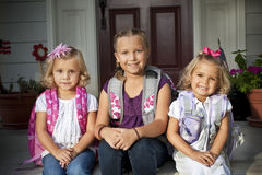 Cute Kids Ready for School stock images