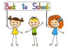 Cute kids with school Stock Photography