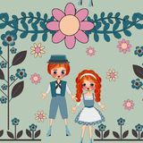 Cute kids seamless pattern background royalty free stock photos
