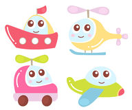 Cute kids transport collection. Vector illustration. Stock Images