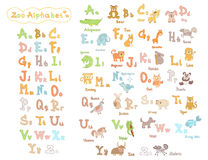 Cute kids zoo alphabet Royalty Free Stock Image