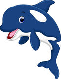 Cute killer whale cartoon Stock Images