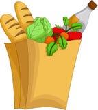 Cute kind fresh vegetable and milk cartoon on basket Royalty Free Stock Image