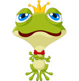 Cute king frog posing Royalty Free Stock Photo